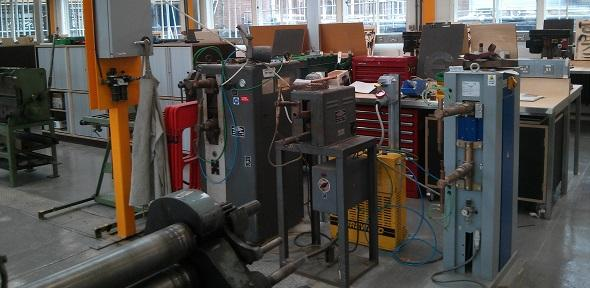 Spot-welders and cooler 590 by 288